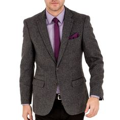 Tailored fitHerringbone weave with subtle speckle detailTwo flap pockets to the hip, coin pocket and pocket to the chestSingle ventStylish tailored fit blazer from Harry Brown in a speckled charcoal tweed. Tweed Blazer, Blazer Jacket, Harry Brown, Blazers For Men, Wedding Suits, Herringbone, Casual Looks, Charcoal, Jackets