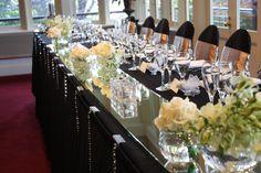 #bridal #table #flowers