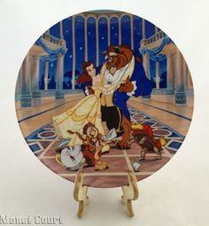 Beauty And The Beast Love's First Dance Knowles Disney Plate