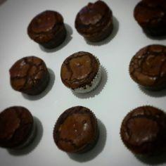 Peanut butter filled chocolate cupcake