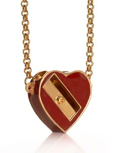 Women Who Draw Too Much Heart Sharpener Necklace by Me and Zena £35