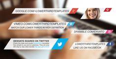 Social Media Lower Thirds Pack
