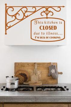 This kitchen is closed... naklejka (proj. Pracownia Nitki)