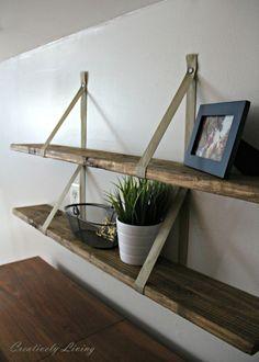 DIY Wood Pallet Shelves by Creatively Living Blog