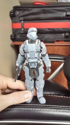 3D Printed Halo ODST figure via reddit user MRHOX