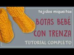 Cómo hacer botas para bebé con trenza (con lana sobrante) - YouTube
