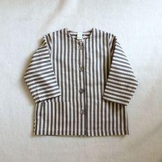 Image of Macarons Artist's Jacket in Earl Grey or Peach Seersucker