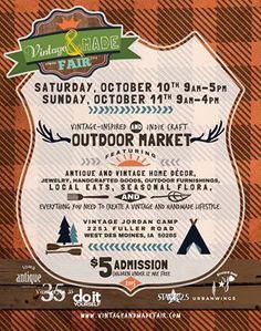 Vintage & Made Fair October 10&11, 2015 West Des Moines, IA www.vintageandmadefair.com