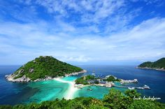 Ko Nang Yuan. this is off the coast of koh tao in thailand. it's absolutely gorgeous. the water is phenomenal and the beach is like sugar.