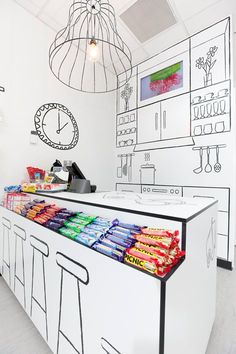 Candy Room Retail Store, Melbourne, 2010 - Red Design Group #graphicwall #design #candyshop