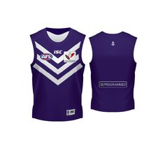The Fremantle Dockers 2012 Home Guernsey. Available at onsport.com.au for $96.95 - a must for all true Dockers fans.