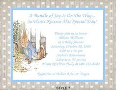 Peter Rabbit Beatrix Potter Baby Shower Invitation Peter Rabbit
