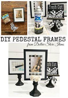 DIY Pedestal frames from Dollar Store items - diy und selbermachen ideen