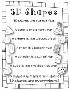Image result for 3d shapes poems songs