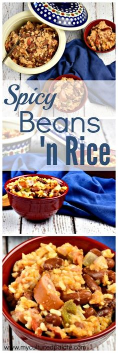 Spicy Beans and Rice is a traditional food with great taste! Plus, it is budget … Spicy Beans and Rice is a traditional food with great taste! Plus, it is budget friendly and helps stretch your dollars without sacrificing nutrition! Cheap Meals, Easy Meals, Whole Food Recipes, Healthy Recipes, Frugal Recipes, Bean Recipes, Drink Recipes, Clean Eating Recipes, Spicy