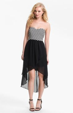 Prom Trend: High Low Dresses. Try it with a Zigzag. $52