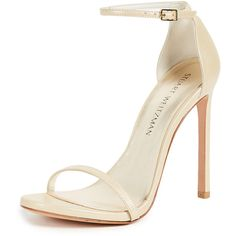 fb87c40f48ea Stuart Weitzman Nudist Sandals ( 400) ❤ liked on Polyvore featuring shoes