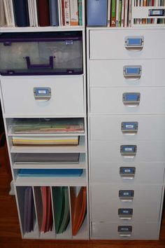 #papercraft #crafting supply #organization. storage units for my cardstock, specialty paper, cricut tools and cartridges ...