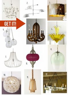 Pin it. Get it! Funky Fixtures - who doesn't love a fun and unique light fixture?!