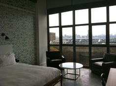 Love this Place! Wythe Hotel, Brooklyn, N.Y. Great view of NYC skyline. #culturefix