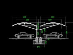 Factory Architecture, Architecture Building Design, Concept Architecture, Car Park Design, Parking Design, Autocad, Car Shed, Car Canopy, Roof Truss Design