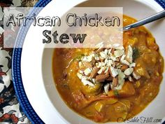 An African Chicken Stew that is gluten, peanut and diary free. Featuring coconut milk and almond butter this rich, spicy stew is Paleo friendly.