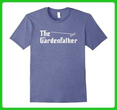 Mens The Garden Father Gardening Shirt 2XL Heather Blue - Relatives and family shirts (*Amazon Partner-Link)
