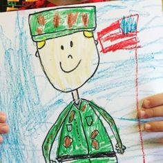 Veteran's Day Directed Drawing for students to complete as a Veteran's Day activity. Perfect for kindergarten, first grade, and second grade (and more! Kindergarten Writing, Kindergarten Activities, Kindergarten Rocks, Kindergarten Classroom, Preschool, 4th Grade Art, First Grade Art, Veterans Day Activities, Patriotic Symbols