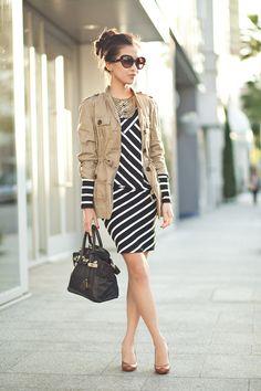 zigzag zebra dress
