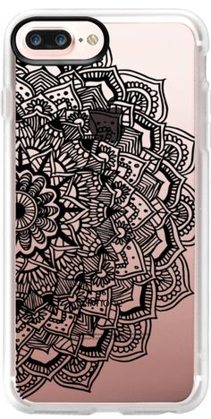 Casetify Protective iPhone 7 Plus Case and iPhone 7 Cases. Other Pattern iPhone Covers - Black Lace Mandala by Laurel Mae | Casetify