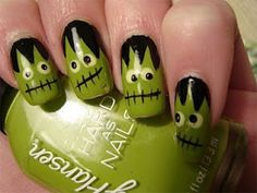 Best & Scary Halloween Nail Art Designs, Ideas & Pictures 2013/ 2014   Girlshue