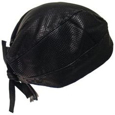 Diamond Plate™ Solid Genuine Leather Perforated Skull Cap $18.95