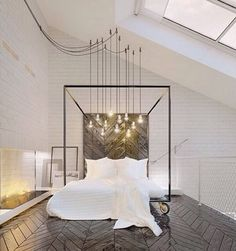 I love the spirit of this chandelier, because it does something I encourage my budget conscious client to do - if the electrical must stay, make it come to you.