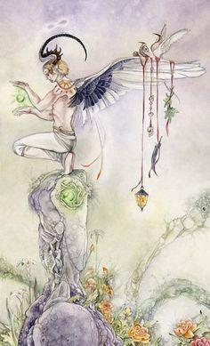 Tiết lộ Cảm Nhận Lá The Magician Trong Shadowscapes Tarot bài tarot