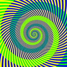 In this perceptual illusion, the two spirals appear to be different shades of green. In fact, they are the same.