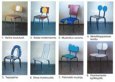 Muotoiluharjoitus - suunnittele koulutuoli uusiksi. 3d Shapes, Dining Chairs, Teaching, Furniture, Design, Home Decor, Decoration Home, Room Decor