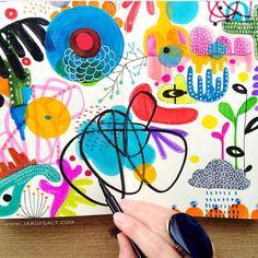Starting small in a sketchbook✍ . #contemporaryart @sketchbookpeople