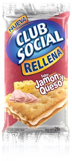 La más rica y clásica combinación del jamón y el queso, ahora ¡entre dos saladitas Club Social! ¿Qué esperás para probarlas?
