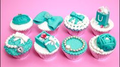 7ea012b548a526 TIFFANY Cupcakes Cake Toppers How To Make by Cakes StepbyStep