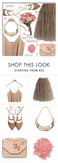 """Say I Do: Summer Weddings"" by meyli-meyli ❤ liked on Polyvore featuring Chicwish, Dune and TheBalm"