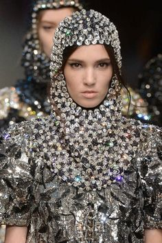 Sparkly Medieval Fashion - bejewelled crystal knight armour // Dolce  Gabbana