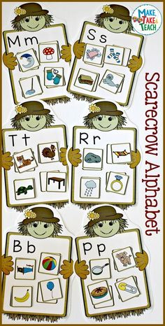 Fun fall-themed activities for teaching the alphabet!