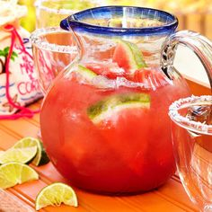 Where there's a pitcher, there's a party. Whether you're brunching, dinner partying, or hosting a (very) happy hour, these fun pitcher cocktail recipes are sure to hit the spot. Find icy margaritas, fruity sangria cocktails, spiked punch, and more!