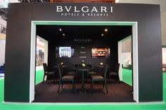 Trade show stand at ATM Dubai 2013. Design and installation by Elevations Exhibition Design & Management Ltd.