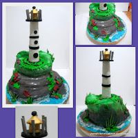 Nautical Pumpkins as well Lighthouses Real And Cake Ideas From The Web moreover Anchor Stencil further Cupcake Tiered Wedding Cake also Night Sky Moon Tattoos. on lighthouse decorating ideas