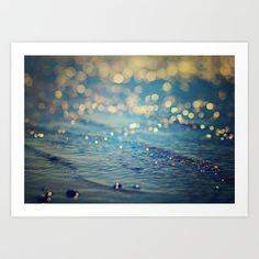 Beach Bokeh Art Print by Jenny A Photography - $18.50