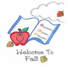 fall set of writing printables