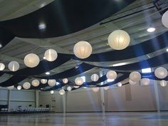Gym fabric ceiling drape by eventswithdesign, via Flickr