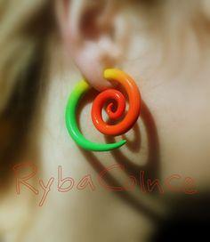 Fake ear gauge / Faux gauge/Gauge earrings / fake by RybaColnce, $18.00