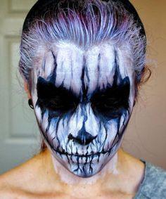 Demon Corpse Paint, Halloween Makeup Tutorial